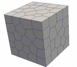 Domain discretized with polyhedra elements